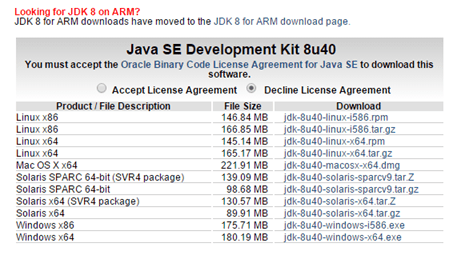 Download do Java