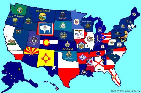 usa flag map (by Louis)