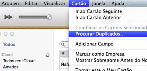 Contatos duplicados no Mac