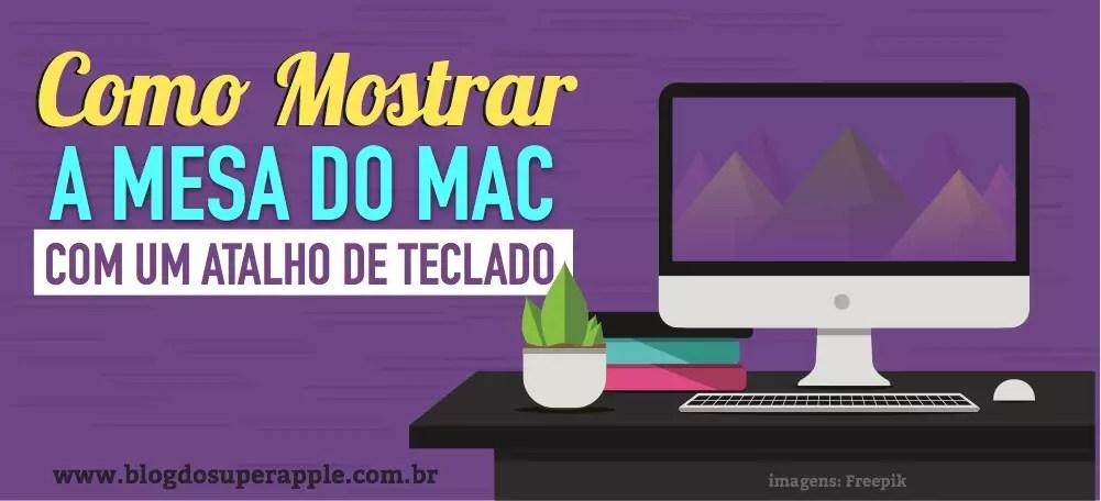 Como Mostrar a Mesa do Mac Com Um Atalho de Teclado