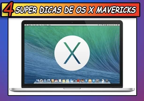 4 Super dicas de OS X Mavericks