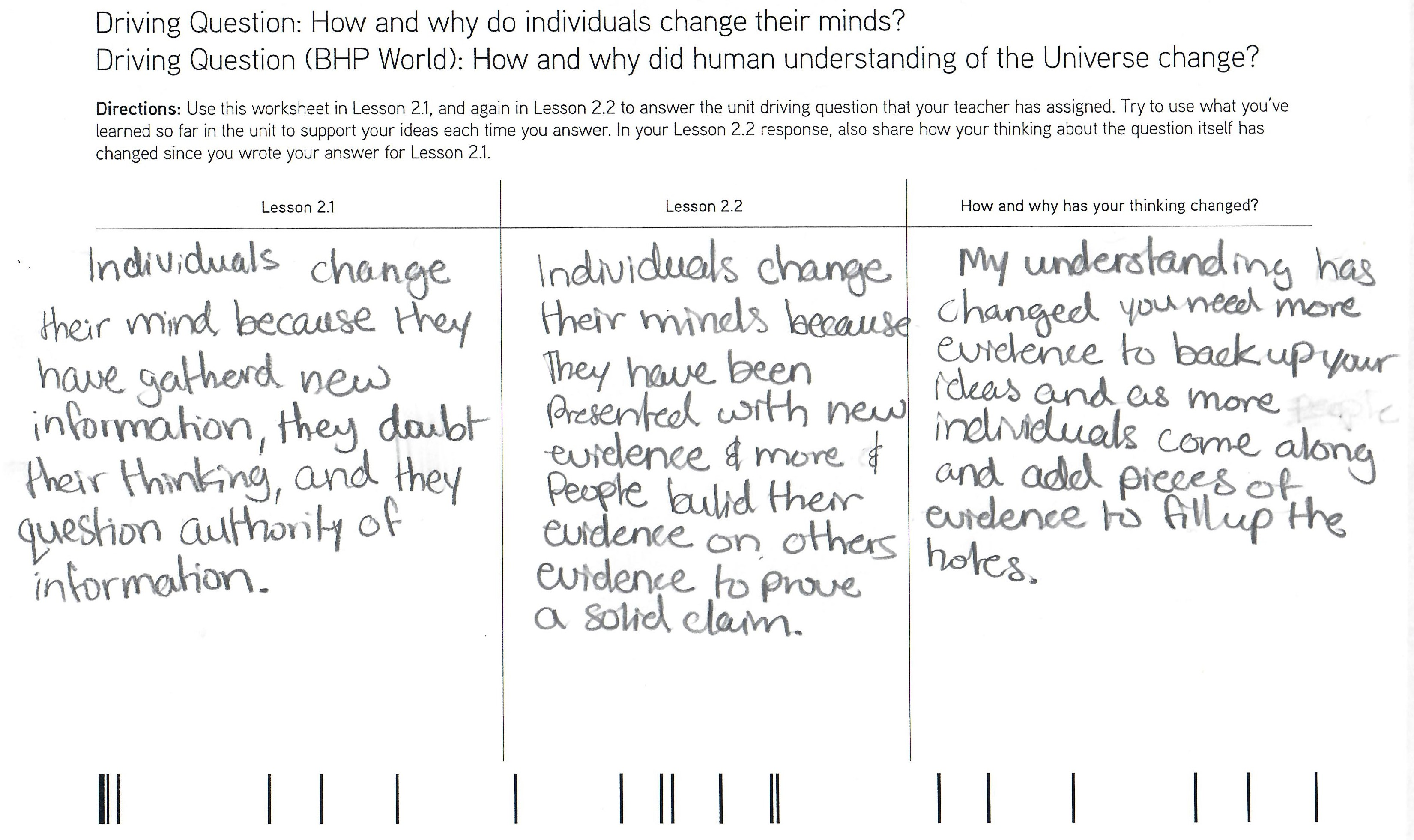 Focus And Reflection Through The Dq Notebook Bhp Teacher