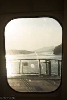 Ferry ride from Orcas to Anacortes in the early morning.