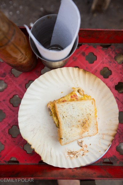 Famous Omelette Shopee in the streets of Jodhpur, Rajasthan.