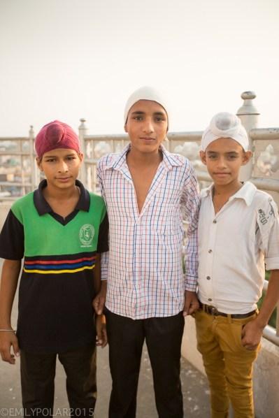 Portrait of young Punjabi men in Amritsar, Punjab.