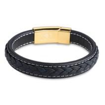 18k Gold Leather Bracelet