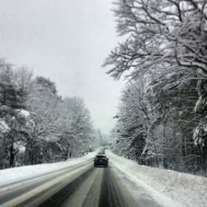 Snowing on the Way to the Mountain