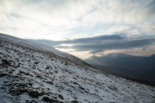 The upper slopes of Moel Siabod