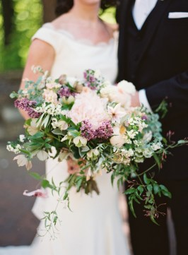 Blush, Purple, and Green Bouquet