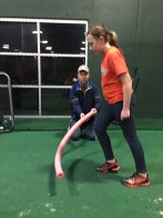 Leaping drill starting position - fastpitch pitching