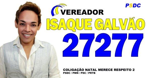Cantor Isaque Galvão é candidato a vereador em Natal