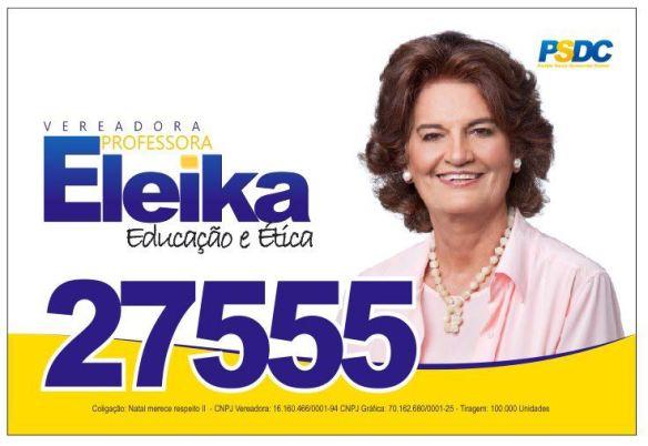 Eleika Bezerra foi eleita pela primeira vez