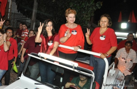 Márcia, Wilma e Fátima pedem votos nas Quintas