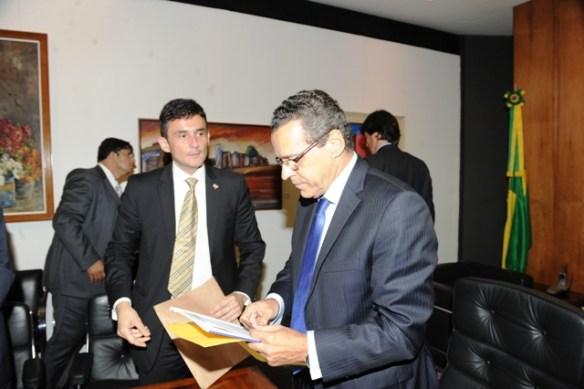 O Procurador Manoel Onofre e Presidente da Câmarados Deputados, Henrique Alves