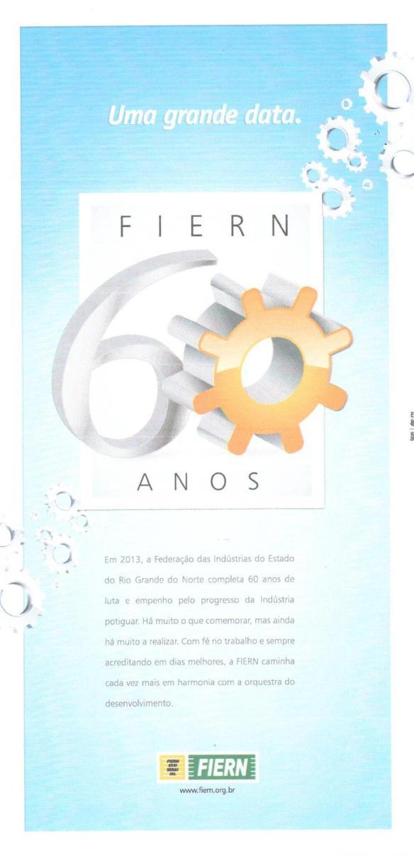 Convite para os 60 anos da Fiern