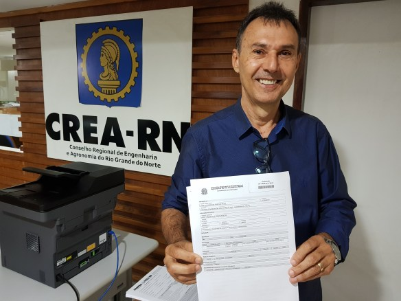 José Augusto Rêgo foi o primeiro registrar candidatura