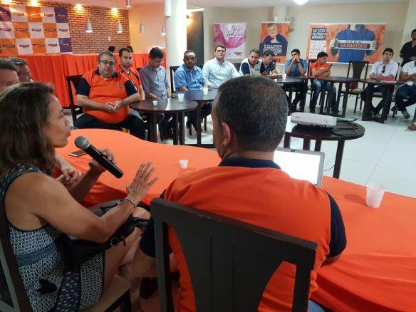 Magnólia Figueiredo defendeu o nome de Brenno Queiroga na Executiva Estadual