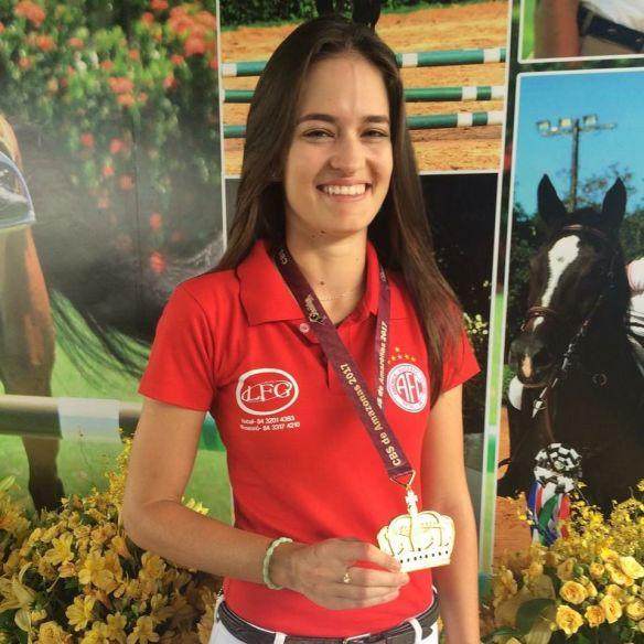 Karina Diniz participou da competição representando o América de Natal