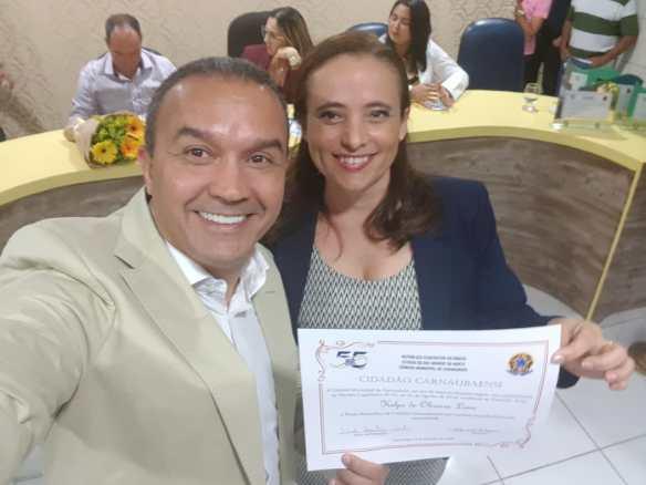Kelps recebeu o título de cidadão por proposição de Iolanda