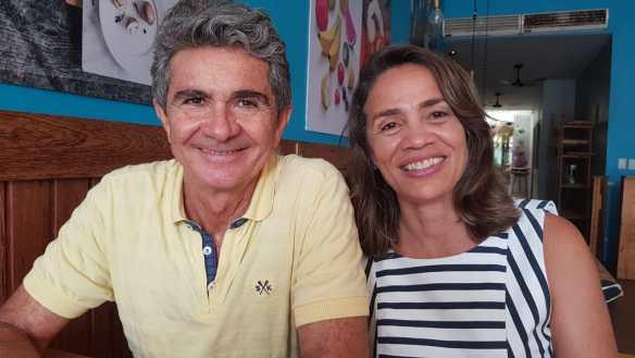 Magnólia e o marido, professor da UFRN, José Figueiredo. Ela foi candidata ao Senado e obteve 114 mil votos no Rio Grande do Norte