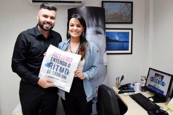 Vereador mossoroense Petras Vinícius e a jornalista Marília Rocha