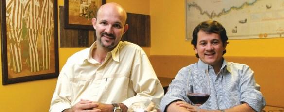 Benício e Washington fundaram a Revista Deguste