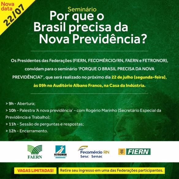 Convite da Fiern para a palestra de Rogério Marinho