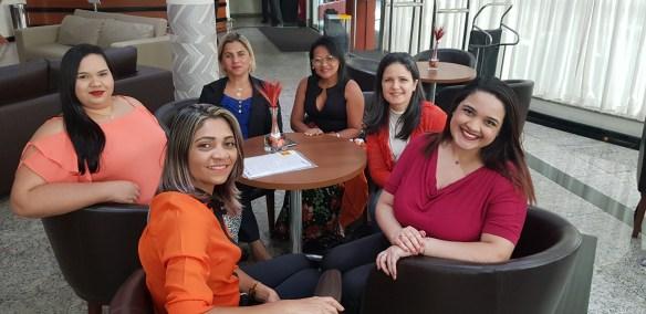 Aline, Leilane, Adriana, Ana Paula, Luciana e Débora: no Lidera+, em São Paulo