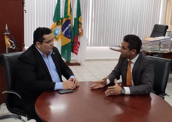 Eudo Leite, Procurador Geral, e Allyson Bezerra, deputado estadual