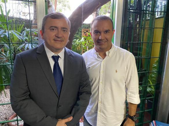 Daniel Sampaio é presidente do PSL no RN e Kelps é fundador do Solidariedade