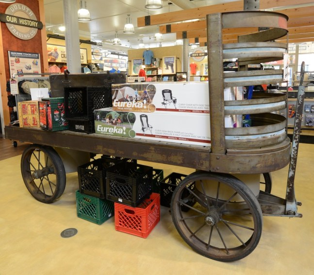 Duluth stores are like no other - such as the way products are displayed on historical objects.