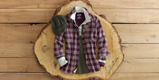 Layer Up with a Free Swingin' Flannel Shirt in Juneberry Heather Plaid
