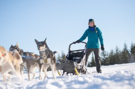 Dog Sled Racer Amanda Vogel in Shoreman's Fleece Coat