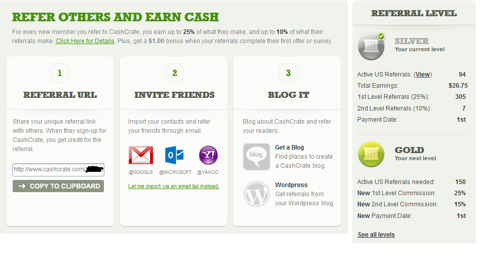 cashcrate referral money