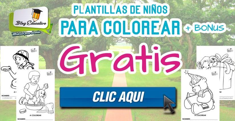 Plantillas para colorear - Ilustraciones de Niños gratis