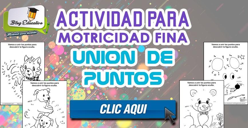 ACTIVIDADES PARA MOTRICIDAD FINA (UNION DE PUNTOS)