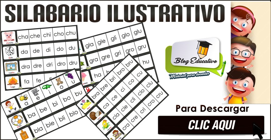 Silabario Ilustrativo completo para educación básica listo para imprimir