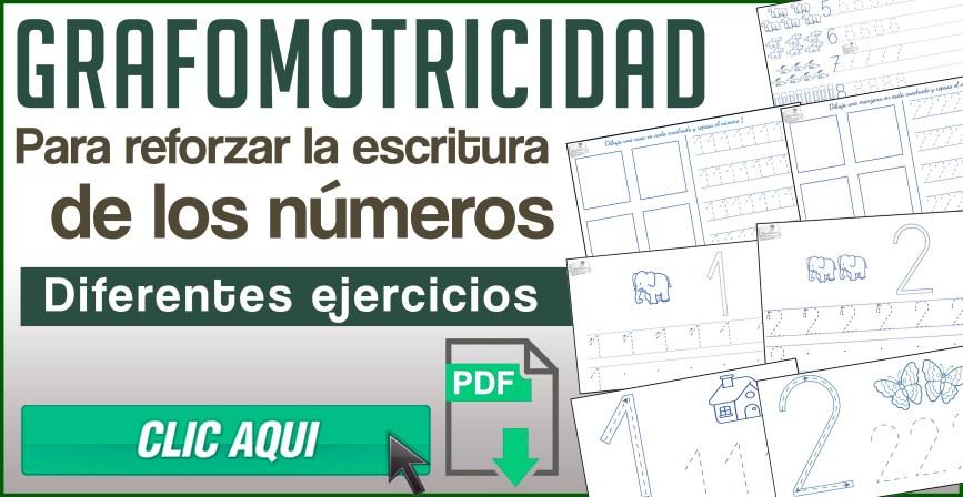 Grafomotricidad para reforzar la escritura de los números