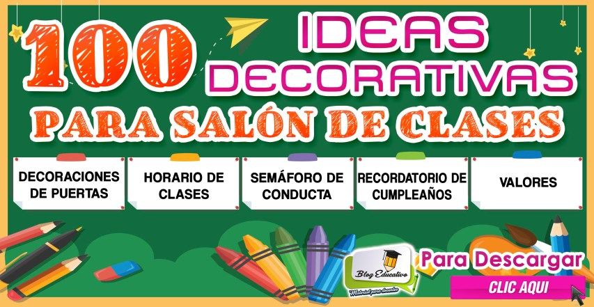 100 ideas decorativas para salón de clases - Blog Educativo
