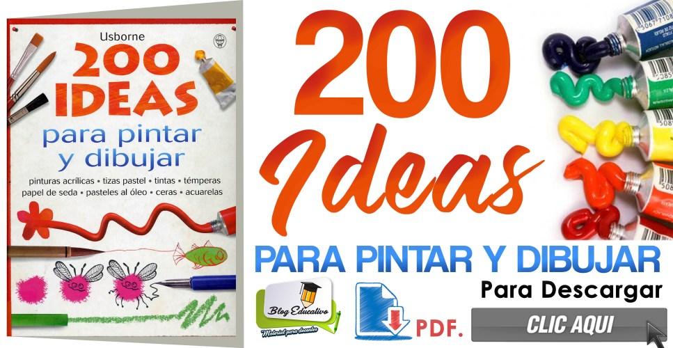 200 Ideas para pintar y dibujar gratis - Blog Educativo