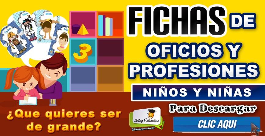 Fichas de Oficios y Profesiones para Niños y niñas