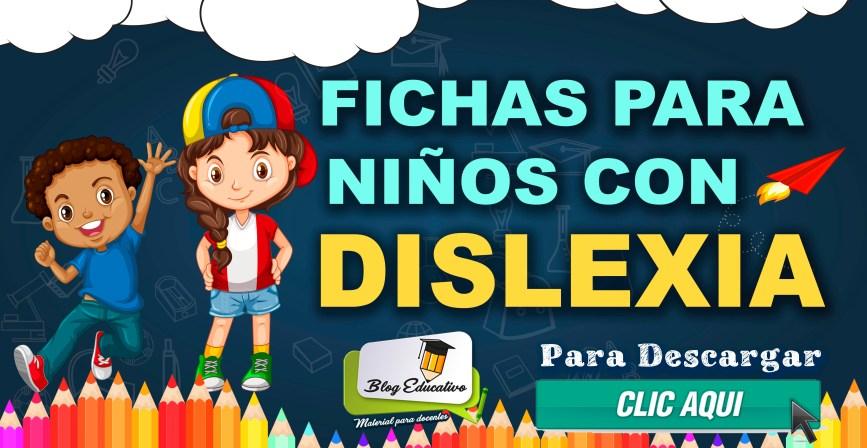 Fichas para niños con Dislexia gratis - Blog Educativo