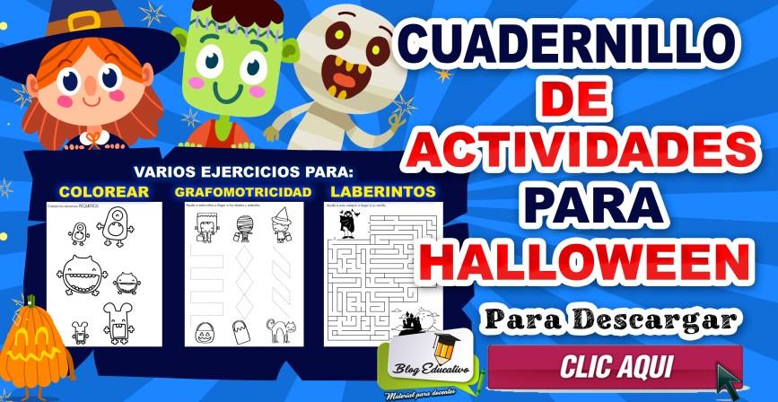 Cuadernillo de actividades para halloween para Colorear
