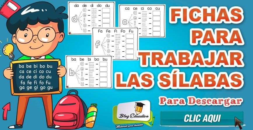 Fichas para trabajar las sílabas gratis - Blog Educativo