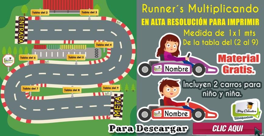 Runners Multiplicando - Material Gratis - Blog Educativo