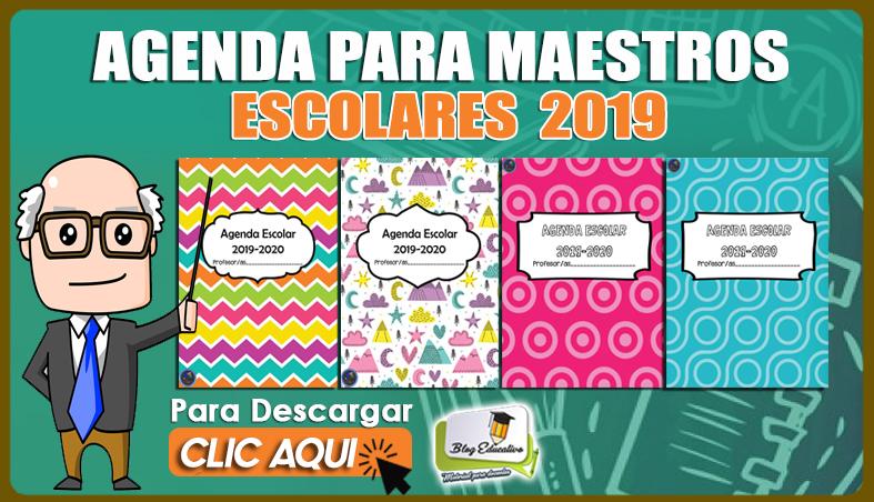 Agenda para Maestros Escolares Completa 2019 con más de 200 Páginas