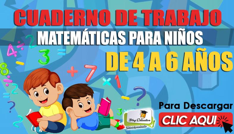 Cuaderno de Trabajo de Matemáticas para Niños de 4 a 6 Años