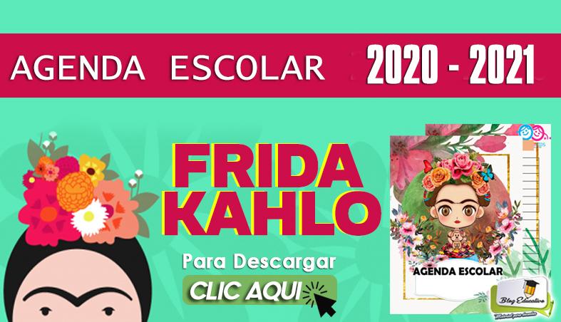 Agenda Escolar 2020-2021 de Frida Kahlo PDF Gratis