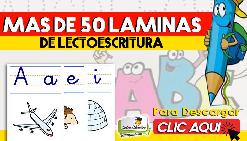 Más de 50 laminas de Lectoescritura Gratis - Blog Educativo