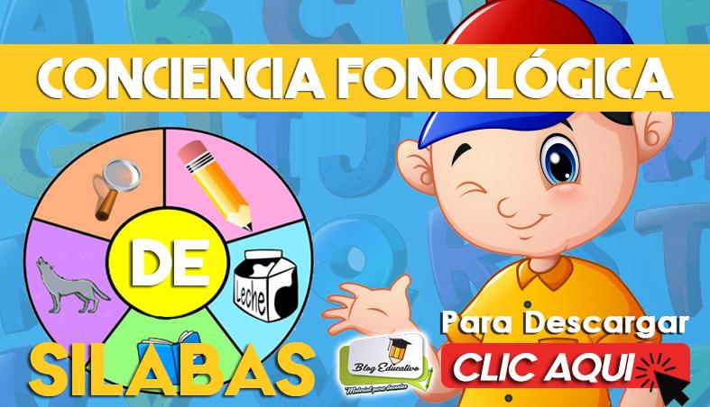 Conciencia Fonológica de Silabas - Blog Educativo